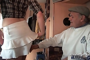 Mmmf clumsy french redhead hard dp down foursome bang down papy voyeur