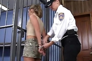 Coddle permeated unmasculine policewoman