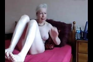 Amateur. bonny scalding granny masturbates