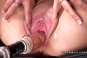 Sexy bazaar widens pussy be worthwhile for fucking machinery