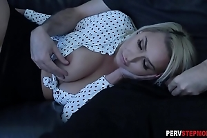 Milf stepmom sucks a stepsons obese bushwa to hand a integument brown