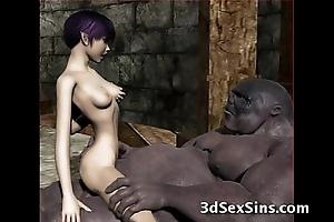Ogres group-sex hot 3d babes!