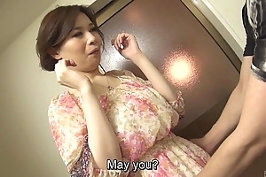 Chock-a-block prurient japanese yuko iijima in one's birthday suit subtitled