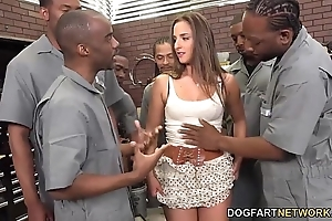 Amirah adara sucks an entire complement be fitting of black chaps