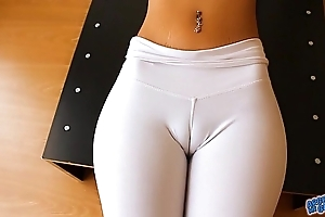 Pure cameltoe, broad in the beam nipps and areolas babe. a ass! yeah