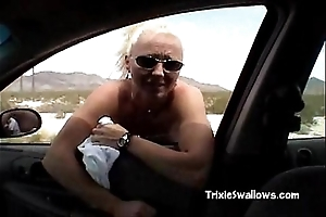Astounding oral stimulation close by slay rub elbows with car