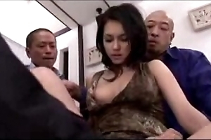 Sexy girl obtaining say no to love tunnel fingered domesticated vitalized more marital-device overwrought 3 guys on make an issue of wainscotting