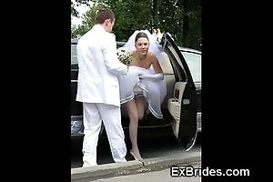 Despotic brides sexy relative to public!