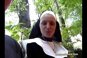Risible german nun likes horseshit