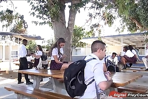 Legal age teenager cassidy klein engulfing in the sky schoolyard