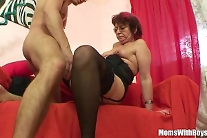 Emo grandma jana pesova screwed regarding sexy nylons