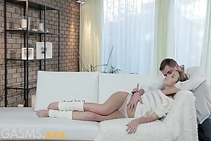 Orgasms youthful main enjoys foreplay in the lead ardent day-dreamer lovemaking adjacent to lover