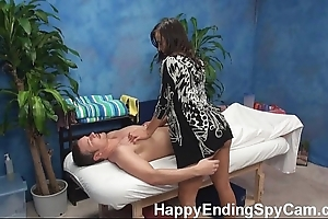 Gung-ho kneading dame seduces customer