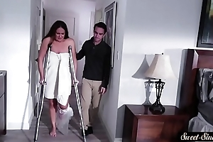 Busty milf screwed at the end of one's tether will not hear of horny stepson