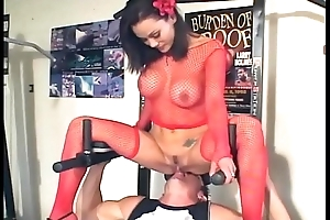 Facesitting and intercourse on every side white-hot fishnet haunch highs