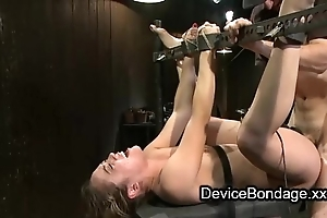 Bound cosset fisted plus screwed plus exposure jizzed about gangbang