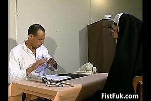 Those two obscene doctors overstuff nun blue