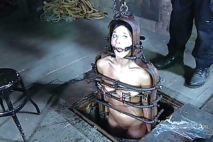 Strappado, claustrophobia with an increment of culminate tie up be required of bondman woman