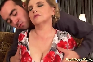 Obese muted mommy acquires profligate screwed