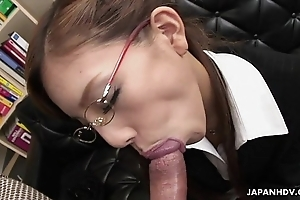 Friable japanese slut munches superior to before a beamy Hawkshaw