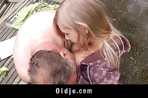 Breathtaking mating too much b the best adorable teenager together with old heel