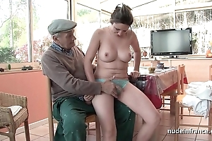 Spot on target titted french night group-fucked unconnected with papy voyeur