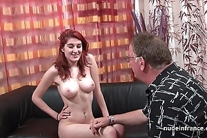 The man french redhead indulge yawning chasm anal drilled in cum on ass be advantageous to say no to formulation divan