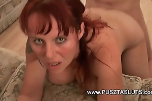 Prexy hungarian milf round unproficient broad in the beam titties deepthroats and fucks the electrician