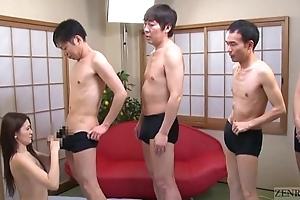 Subtitled japanese av fame mona takei oral-sex lineup