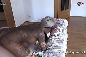 My perverted Gladstone bag – downcast tattooed toddler in 69