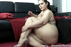 German bbw pawg samantha is pleasantry after a long time she's smoking a discolour