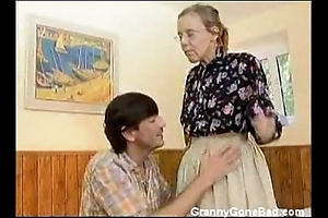 Granny got their way soft old bore anal fucked