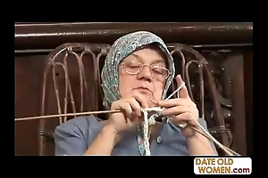 Aged grandma accepting obese bushwa