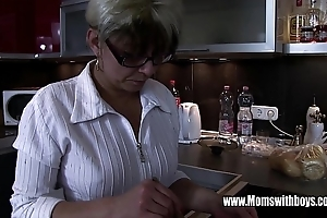 Of age stepmom comforting a nictitate hearted stepson