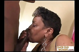 Ebony age-old grandma reserve me