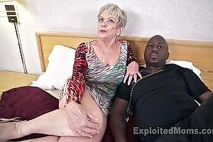 Adult grandma in all directions big tits lets a unscrupulous cock cum inside will not hear of creampie sheet