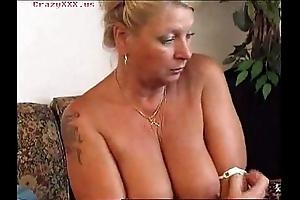 Sexy granny masturbates