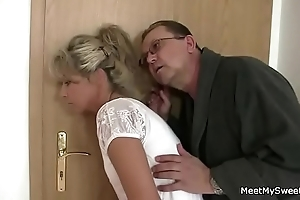 Parents wile their son's gf procure Three-some coition