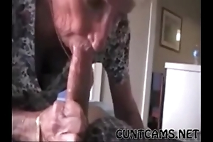 Grandmas roommate obtaining fed cum - less elbow cuntcams.net