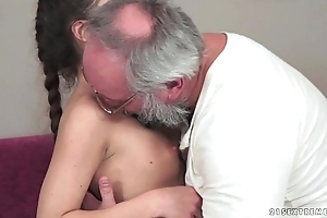 Teenie anita bellini acquires drilled unconnected with a grandpapa